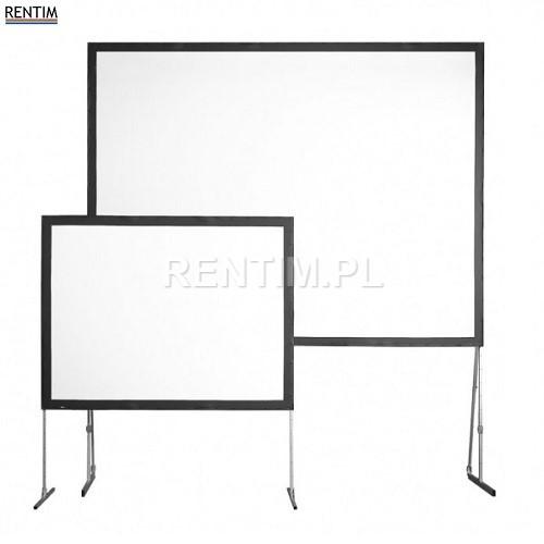 Ekrany projekcyjne: na trójnogu, ramowe, projekcja przednia i tylna