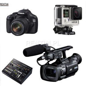 Sprzętu wideo: kamery, aparaty, miksery wideo, splittery, switchery