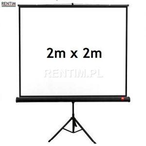 Ekran projekcyjny na stojaku (tripd) 2m x 2m