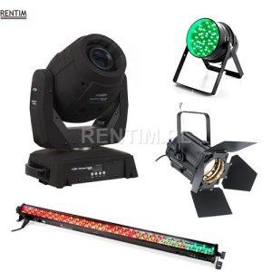 Oświetlenie: LED PAR, LED BAR, ruchome głowy, reflektory teatralne PC, sterowniki