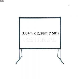 Wynajem ekranu projekcyjnego ramowego (4:3) 150″ 3m x 2m (projekcja przednia lub tylna)