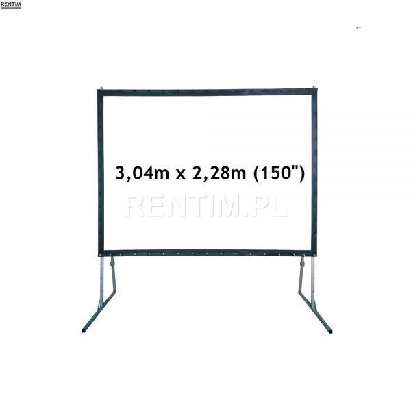Ekran projekcyjny ramowy 150 cali 3,04m x 2,28m