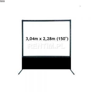Ekran projekcyjny ramowy 150 cali 3,04m x 2,28m - wysłona