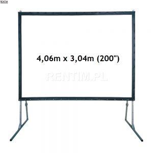 Wynajem ekranu projekcyjnego ramowego (4:3) 200″ 4m x 3m (projekcja przednia lub tylna)