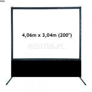 Ekran projekcyjny ramowy 200 cali 4,06m x 3,04m - wysłona