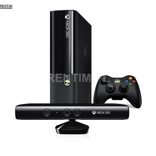 Wynajem konsoli do gier Xbox 360 z kontrolerem ruchu Kinect