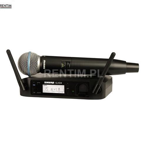 Wynajem cyfrowego mikrofonu bezprzewodowego klasy premium (SHURE B58)