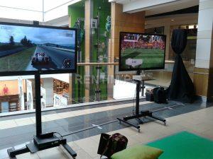 Wynajem kompletnego stanowiska Xbox 360 Kinect z TV LED 42″ i stelażem