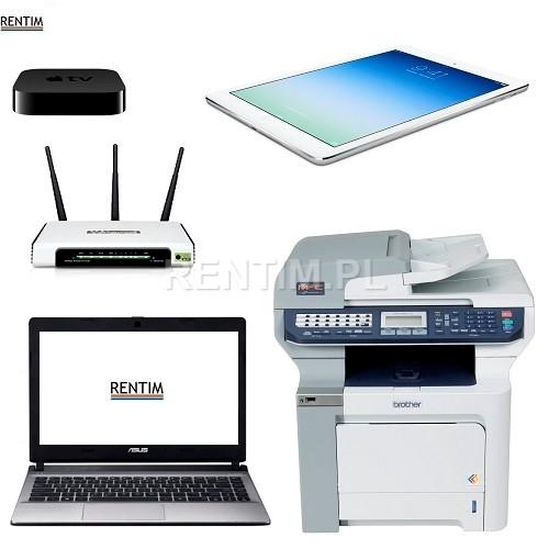 Tablety, sprzęt komputerowy: Ipad Air, laptopy, drukarki, router itp.
