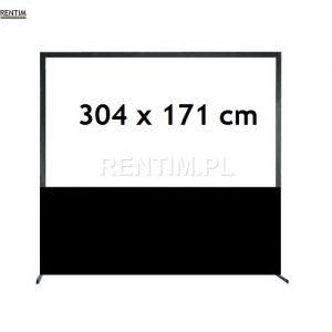 Wynajem - ekran projekcyjny ramowy 16-9 304cm x 171cm