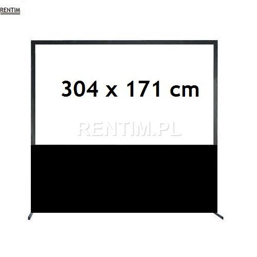 Wynajem ekranu projekcyjnego ramowego (16:9) 137″ 3,04 x 1,71m (projekcja przednia lub tylna)