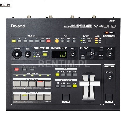 Wynajem mikser wideo Roland V-40HD - front