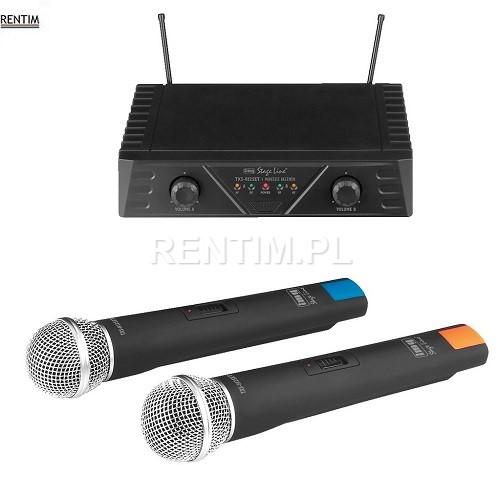 Wynajem mikrofonów bezprzewodowych klasy budżetowej (2 mikrofony w zestawie)