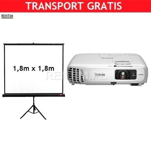 Zestaw projektor biznesowy 3000ANSI i ekran projekcyjny 180cm