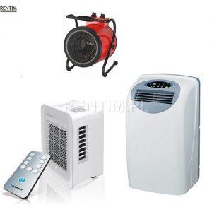 Klimatyzatory przenośne, nagrzewnice elektryczne, osuszacze powietrza