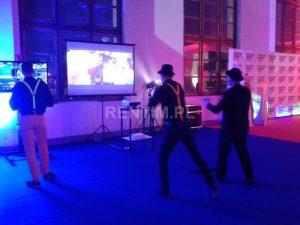 Stanowisko Xbox 360 Kinect z projektorem (1)