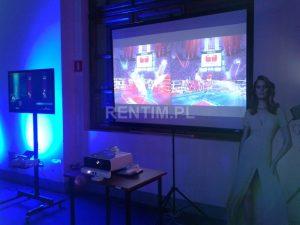 Wynajem stanowiska Xbox 360 Kinect z ekranem 2m i projektorem short-throw
